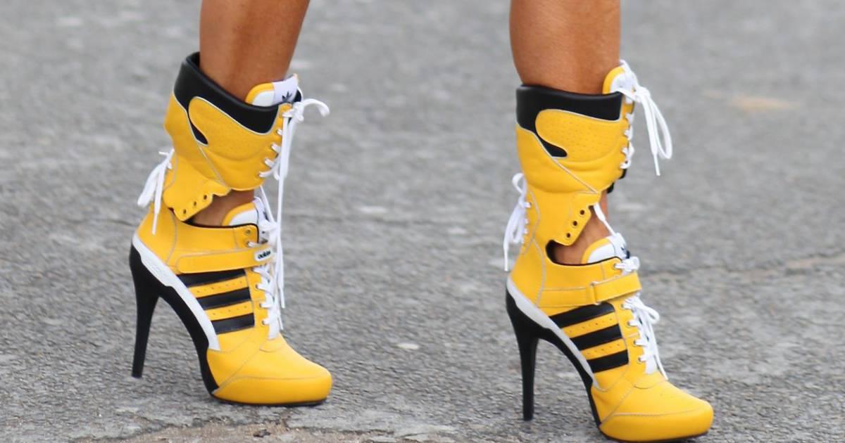 Chaussure compensée adidas femme basket