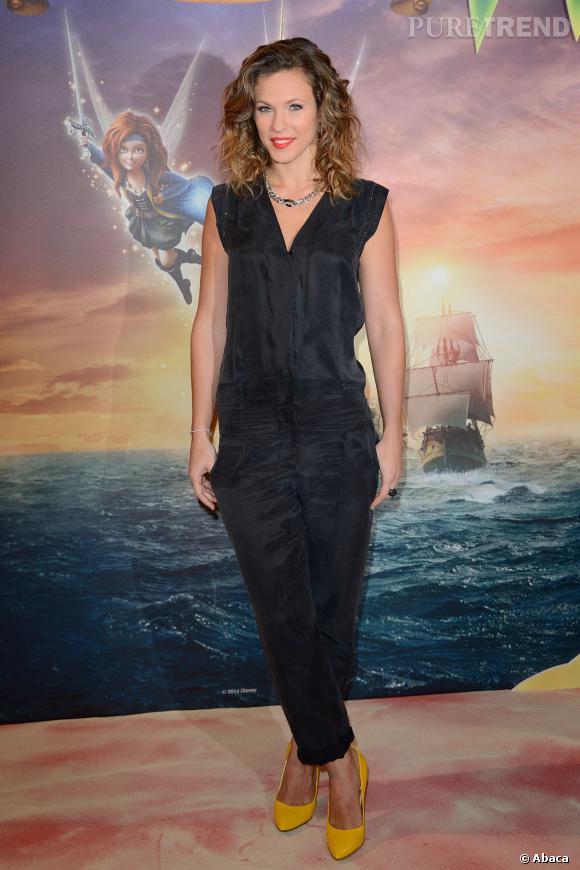 Lorie mardi 25 mars 2014 à l'avant-première de Clochette la fée pirate signé Disney.