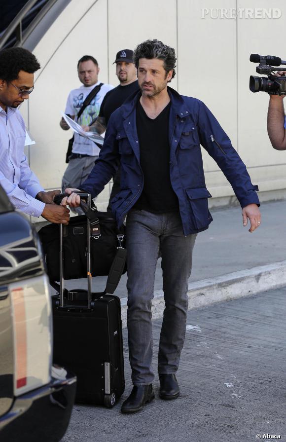 Patrick Dempsey à l'aéroport de Los Angeles en mars 2014