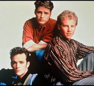 Jason Priestely, Ian Ziering et Luke Perry, les trois copains de Beverly Hills : Brandon, Steve et Dylan.