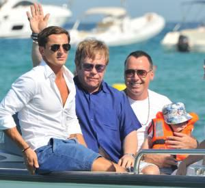 Elton John et David Furnish à Saint-Tropez en août 2011.