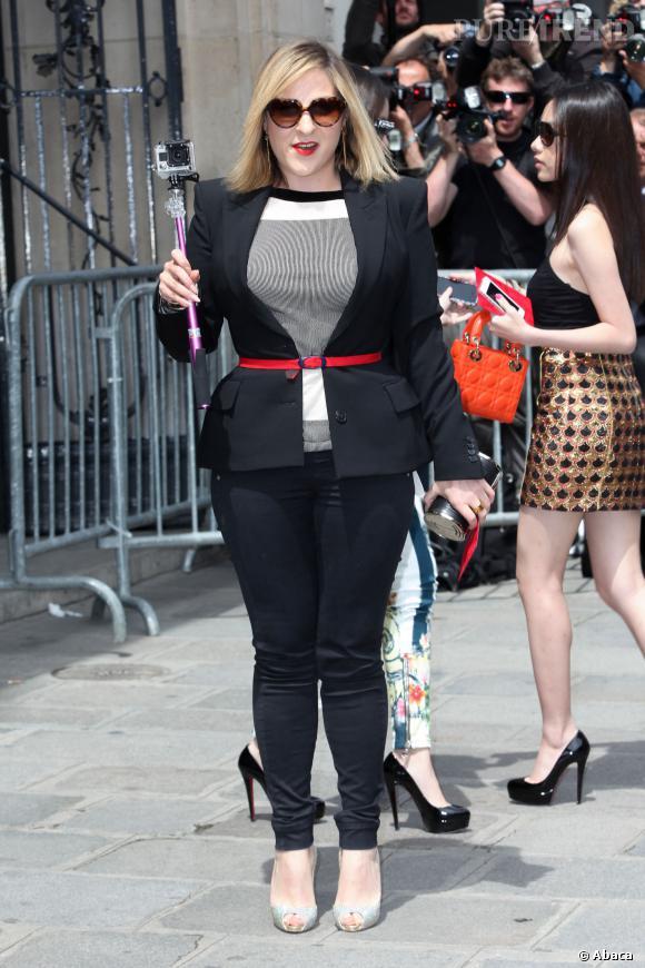 Marilou Berry au défilé de Jean-Paul Gaultier lors de la Fashion Week, en juillet 2013.