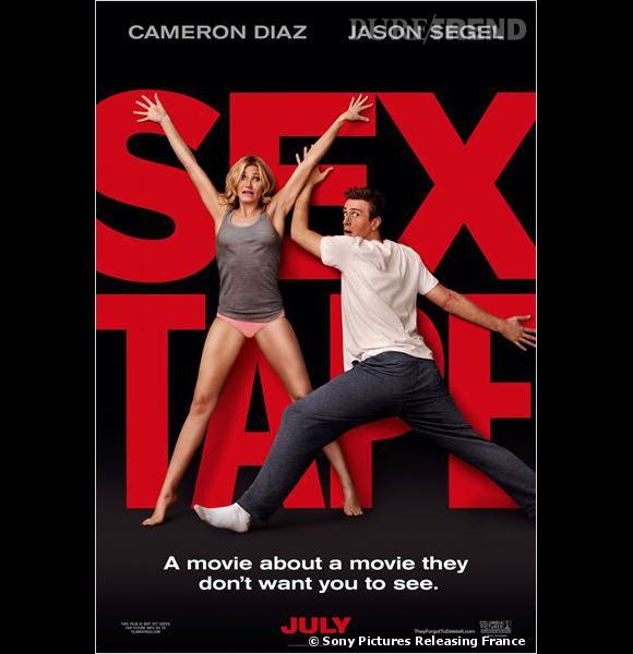 """""""Sex Tape"""" avec Cameron Diaz et Jason Segel : l'affiche américaine du film."""