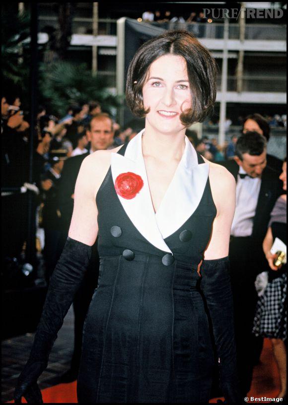 Valérie Lemercier lors du Festival de Cannes en 1993.