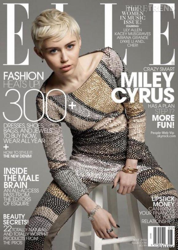 Miley Cyrus sera en couverture du numéro de mai d'ELLE US.