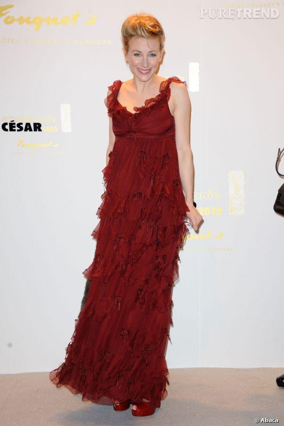 Julie Depardieu à la 37ème cérémonie des César en 2012.