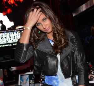 Malika Ménard : bikeuse séductrice en cuir pour la soirée de Marion Bartoli