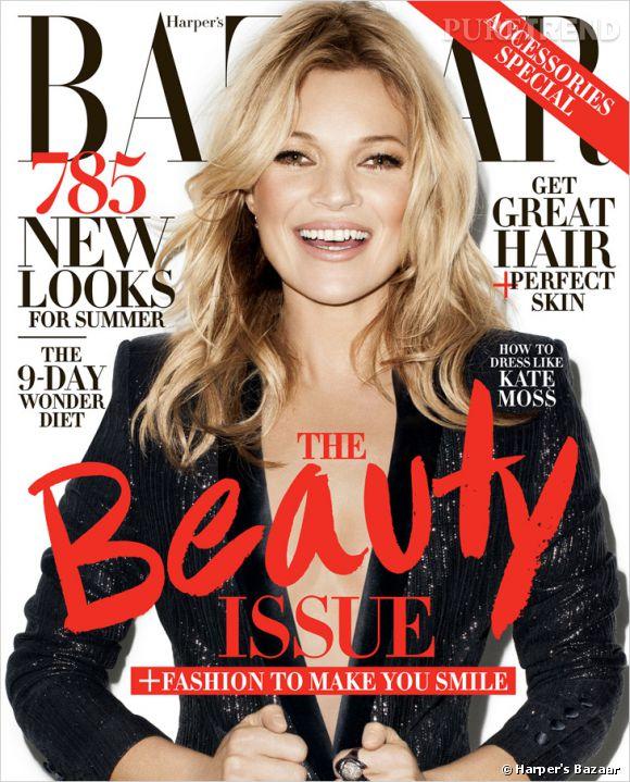 """Kate Moss a donné ses conseils mode dans le dernier numéro d'""""Harper's Bazaar"""". Mais quand il s'agit de ses looks, c'est sa fille Lila Grace qui a le dernier mot."""