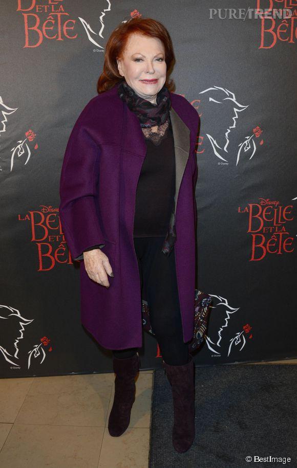 Régine à la première de la comédie musicale La Belle et la Bête, le 20 mars 2014 à Paris.