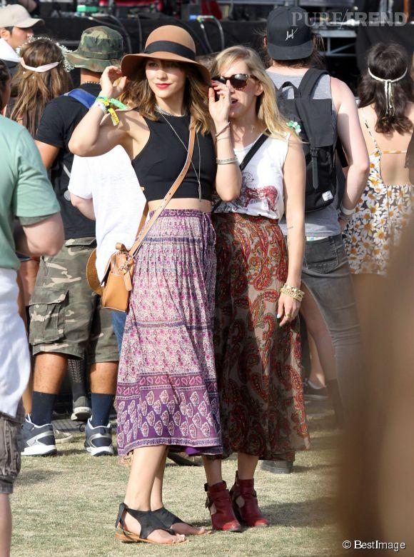 Le cropped top bohème et très féminin pour Katharine McPhee sur la pelouse de Coachella 2014.
