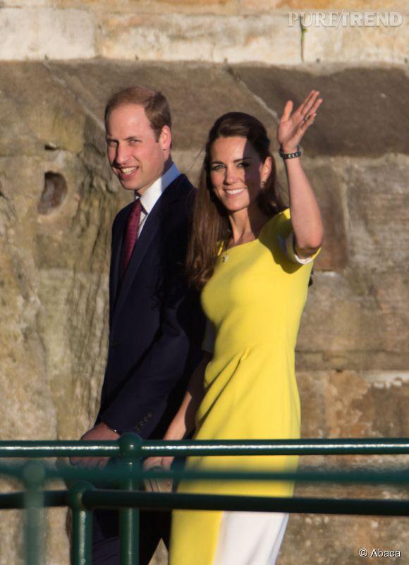 Kate Middleton et le Prince William à leur arrivée en Australie le 16 avril 2014.