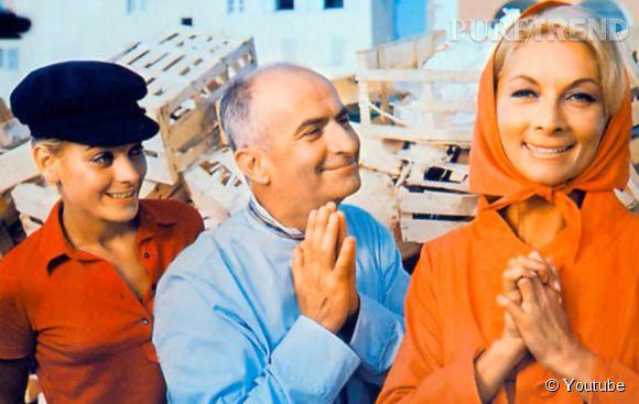 Louis de Funès et Claude Gensac, sa femme à l'écran.