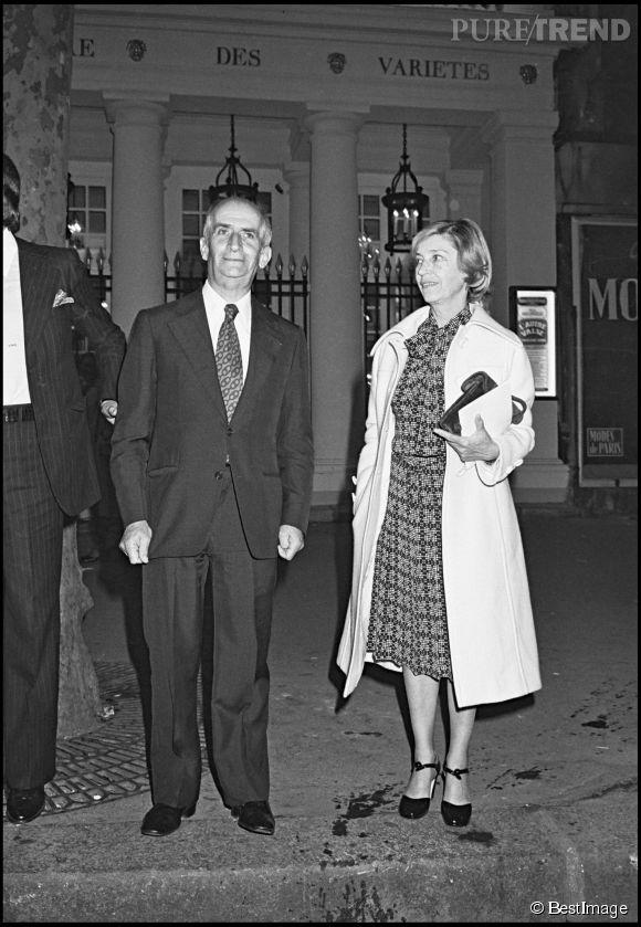 Louis de Funès et sa femme, Jeanne, sa première fan, en 1976.