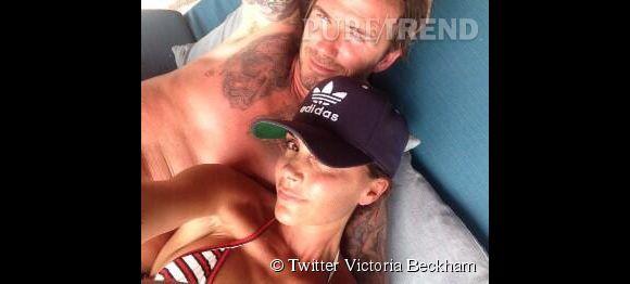 Victoria Beckham et son selfie sexy en compagnie de son apollon de mari David  pour ses 40 ans.
