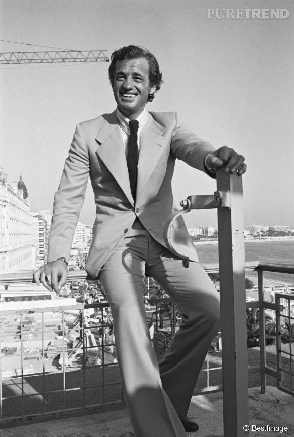 Jean-Paul Belmondo au Festival de Cannes en 1974.
