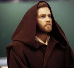 "Ewan McGregor et sa barbe rousse dans ""Stars Wars épisode II : L'Attaque des clones""."