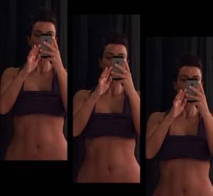Kim Kardashian : une future mariée fière de ses abdos !