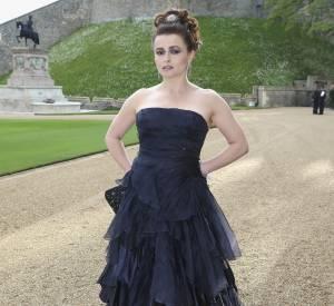 Helena Bonham Carter spectaculaire u diner organisé pour The Royal Marsden au Château de Windsor le 13 mai 2014.