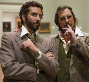 """American Bluff"" avec Bradley Cooper et Christian Bale."