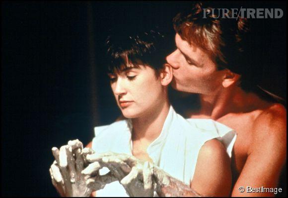 "Patrick Swayze et Demi Moore dans ""Ghost"" en 1990."