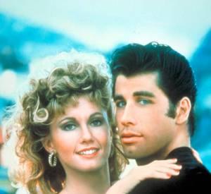 "John Travolta, Olivia Newton-John dans ""Grease"" en 1978."