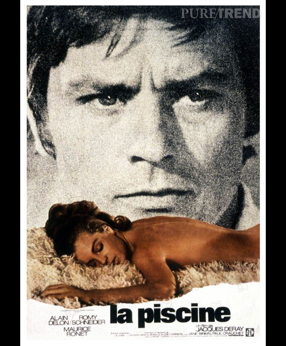 Alain delon et romy schneider dans la piscine en 1969 for La piscine movie