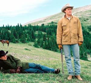 "Heath Ledger et Jake Gyllenhaal dans ""Le Secret de Brokeback Mountain"" en 2006."