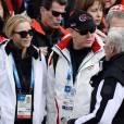 Charlène de Monaco n'aurait raté les Jeux Olympiques sous aucun prétexte. Ici avec son Prince à Sochi, le 9 février 2014.