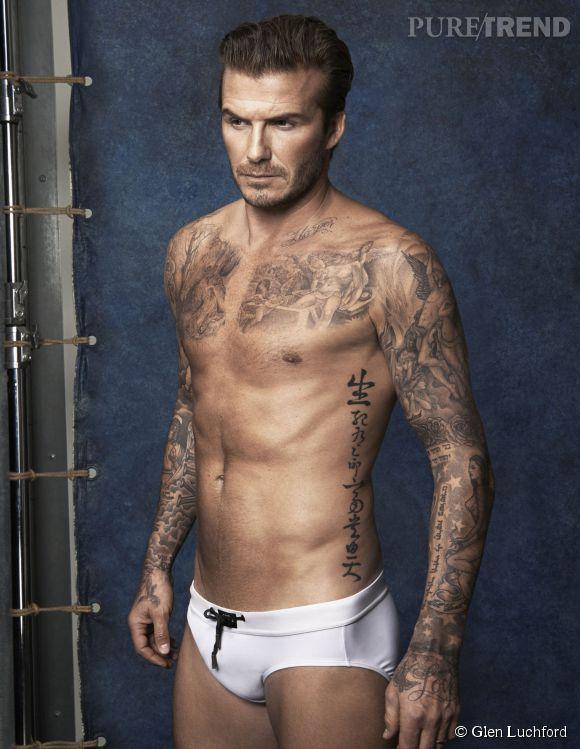 David Beckham dévoile sa collection de maillots de bain H&M.