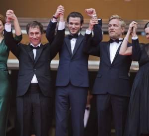 La montée des marches du film Saint Laurent au Festival de Cannes 2014.