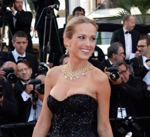 """Petra Nemcova lors de la montée des marches pour """"Deux jours une nuit"""" au 67ème Festival de Cannes."""