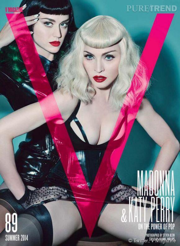 Katy Perry et Madonna en couverture de V Magazine pour l'été 2014.