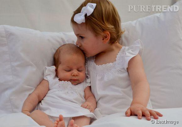 La Princesse Leonore et la Princesse Estelle, adorable duo.