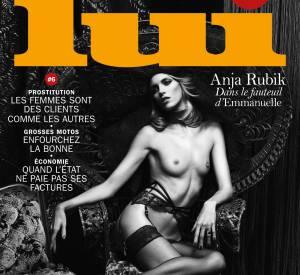 Anja Rubik en couverture de Lui n°6 en 2014.
