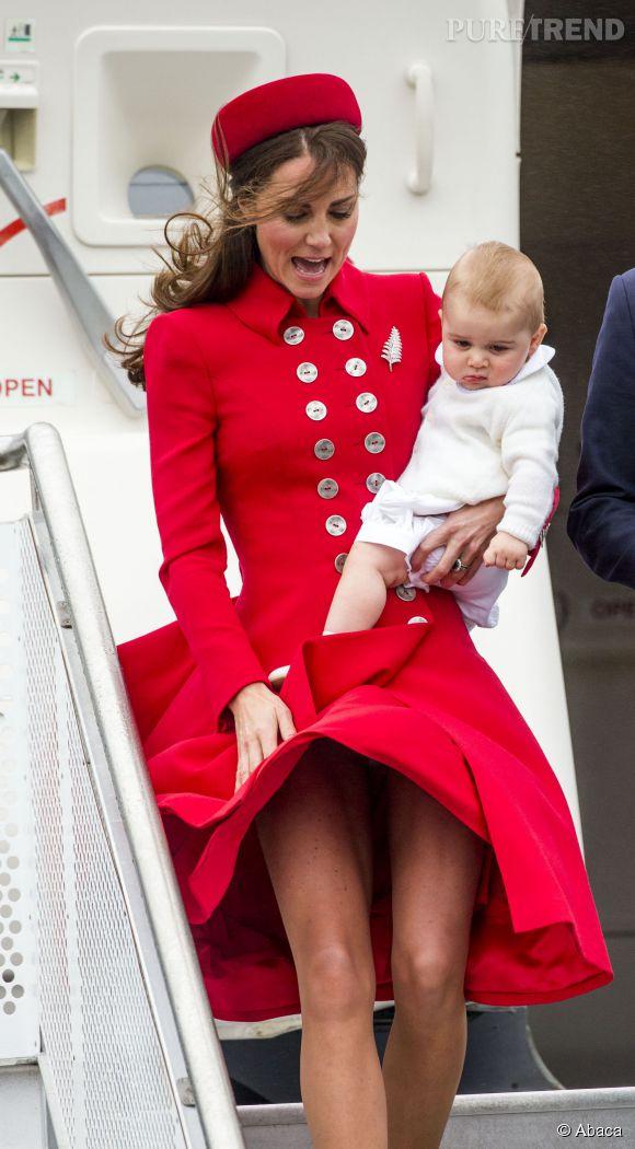 Kate Middleton et la jupe qui s'envole, une vraie habitude !