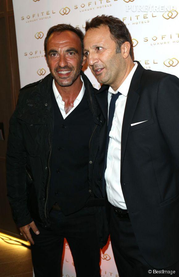 Arthur et Nikos Aliagas, deux stars de la télé.