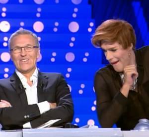 """Nicolas Bedos, transformé en Natacha Polony dans l'émission """"On n'est pas couché"""" sur France 2 du 14 juin 2014."""
