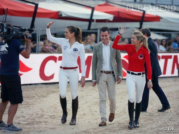Charlotte Casiraghi et sa coéquipière Edwina Tops-Alexander ont remporté la Longines Pro-Am Cup de Monte Carlo le 27 juin 2014.