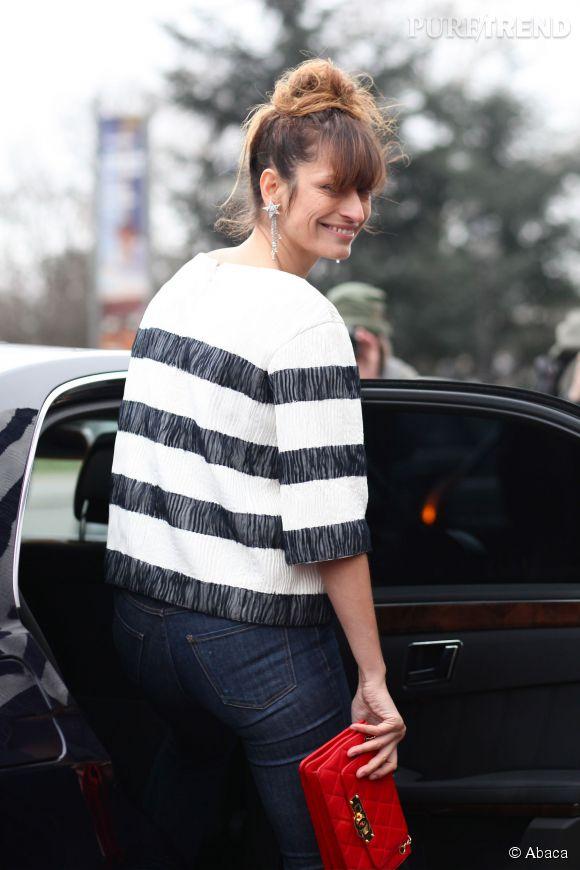 Caroline de Maigret lors du défilé Chanel collection Printemps-Eté 2014.