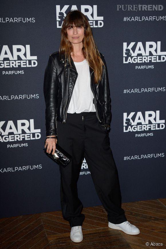 Caroline de Maigret lors de la sortie du dernier parfum de Karl Lagerfeld, en mars 2014.
