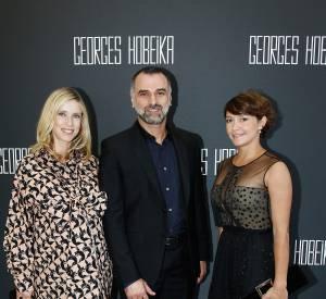 Lea Drucker prend la pose avec le créateur et Emma De Caunes.
