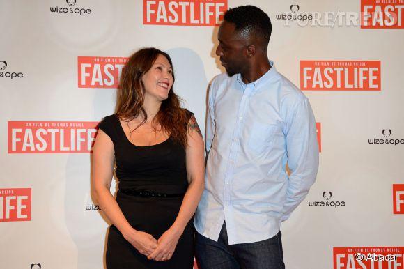 Thomas Ngijol et sa compagne Karole Rocher à l'avant-première du film Fastlife le mercredi 15 juillet 2014