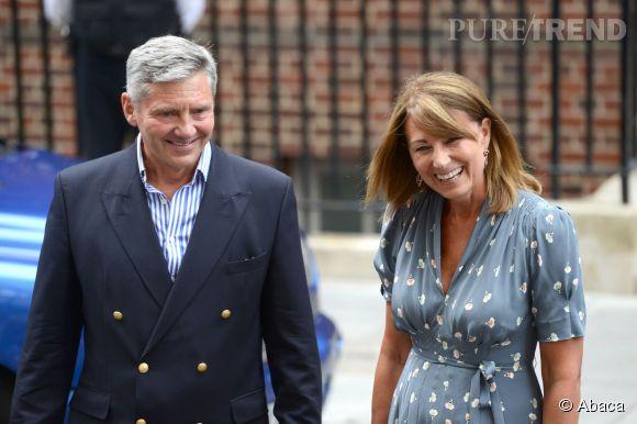 Michael et Carole Middleton étaient invités à l'anniversaire du Prince George ce 22 juillet 2014 à Kensington Palace.
