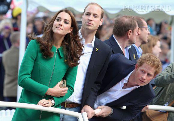 Kate Middleton, le Prince William et le Prince Harry étaient de la partie ce 22 juillet 2014.