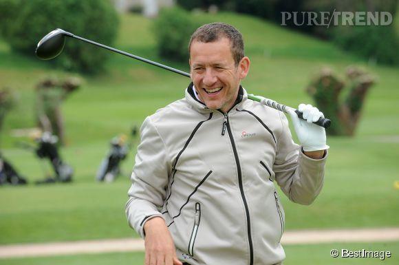Dany Boon participant au  Trophée du coeur au golf de Saint-Nom-La-Bretèche au profit des enfants défavorisés atteints de malformations cardiaques. C'était le 29 avril 2014.