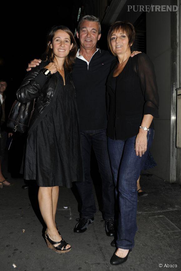 """Alexia Laroche-Joubert et les parents de Grégory Lemarchal en septembre 2011 lors de la première du film """"Oxygene""""."""