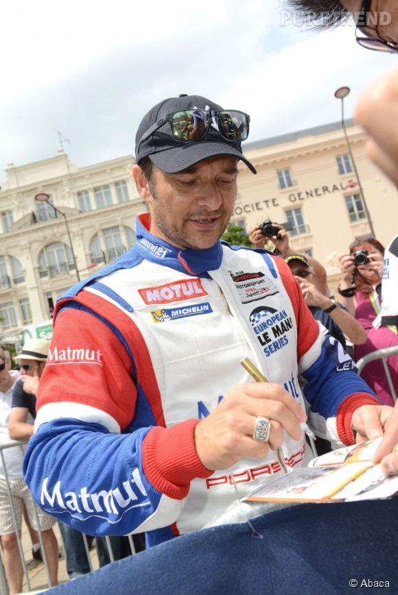 David Hallyday, pilote automobile, ici, aux 24h du Mans en 2014.