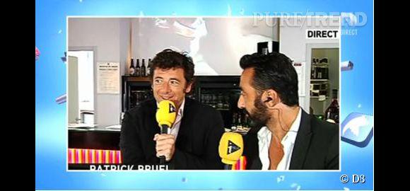 """Patrick Bruel, une interview sur fond de film érotique sur i>Télé, une bourde épinglée dans """"Touche pas à mon poste""""."""