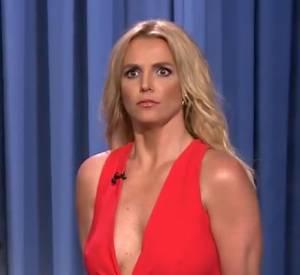 Britney Spears sur le plateau de Jimmy Fallon.