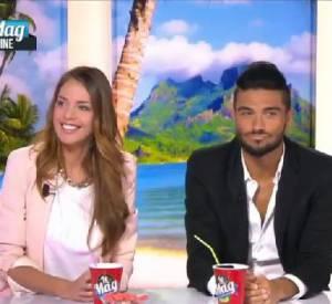 """Vanessa Lawrens et Julien Guirado (""""Les Anges 6"""") : des révélations sur leur couple et des règlements de compte sur le plateau du """"Mag"""" de NRJ12."""